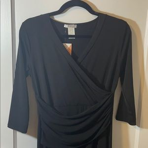 NWT Honey and Lace rocklin faux wrap M
